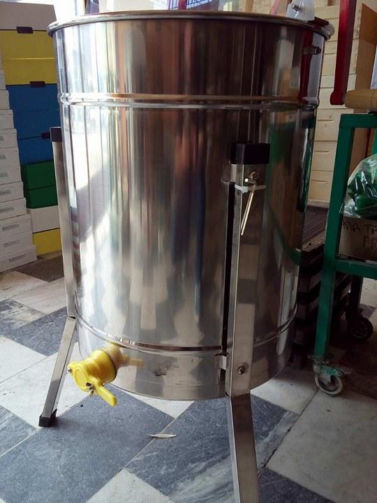 Μελιτοεξαγωγέας 4 πλαισίων inox